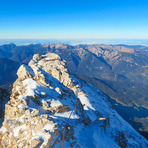 Looking back from the top, Zugspitze