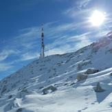 Sveti Jure prekriven snijegom...