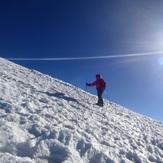 Cruzando el glaciar del Plomo