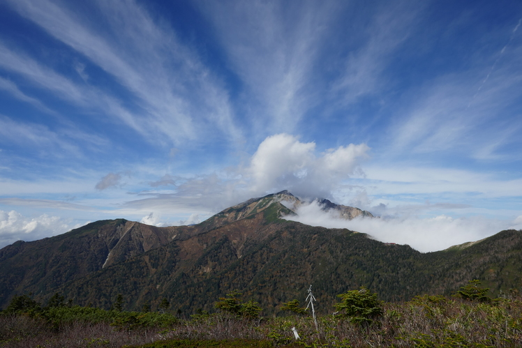 spritual clouds over Kashimayarigatake, Kashima Yarigatake