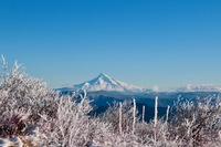 View of Mt Hood in winter, Silver Star Mountain (Skamania County, Washington) photo