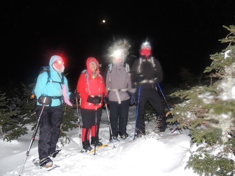 Moonlit Pierce in Winter, Mount Pierce