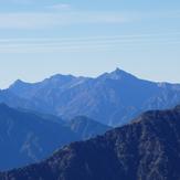 A view of Yarigatake taken from Jiigatake, Yarigadake