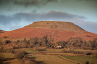 Crug Hywel at sunset photo