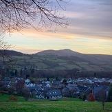 Sugar Loaf mountain at sunrise, Sugar Loaf Mountain (Wales)