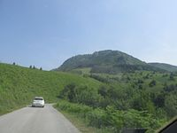 Approach to mountain Bobija with the Prisedo pass photo