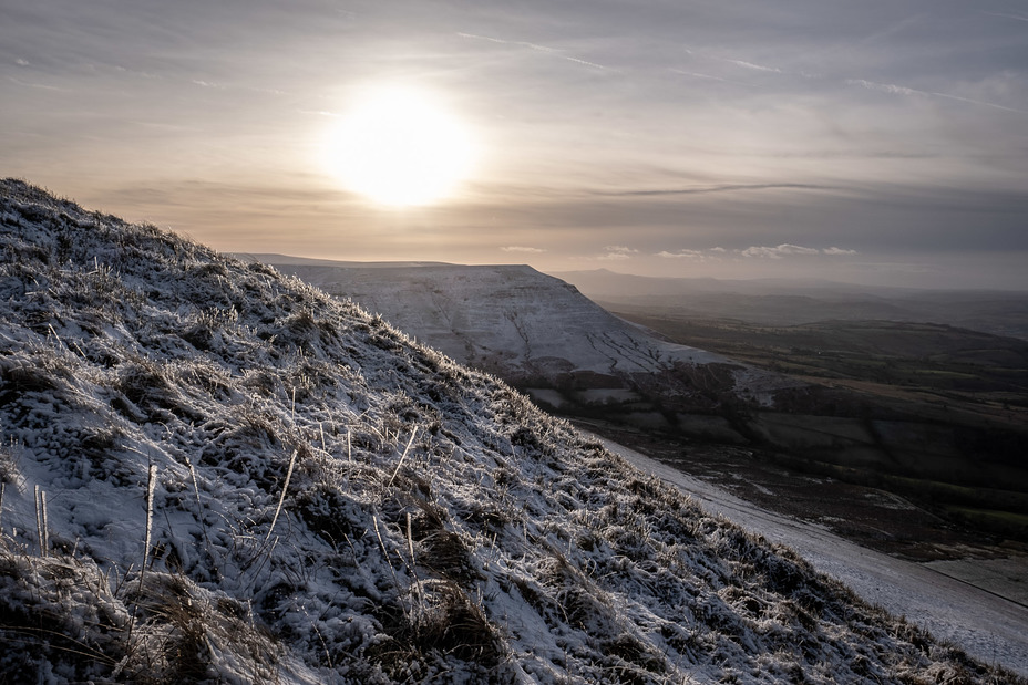 Sunset behind Lord Hereford's Knob, Hay Bluff