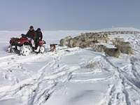 Snow on Summit, Beacon Hill, Powys photo