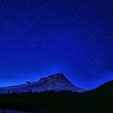 Night on the mountain, Mount Hood