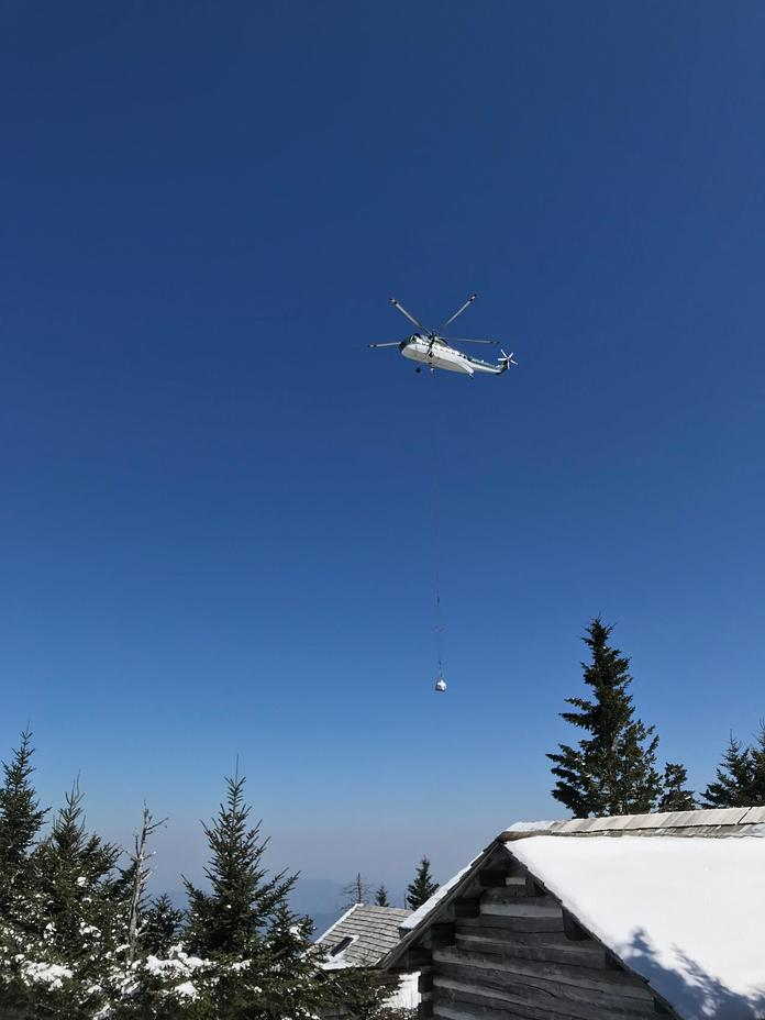Air lift, Mount LeConte
