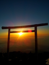 Torii at te top, Fuji-san photo
