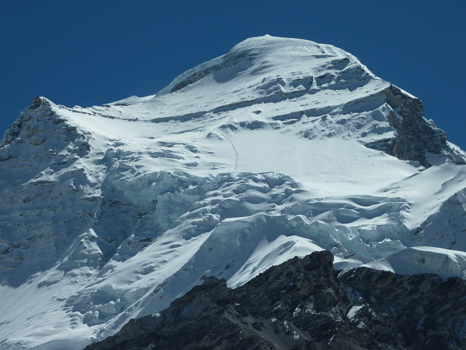Trace of ascent to Cho Oyu, Cho Oyu or Qowowuyag ( 卓奧有山)
