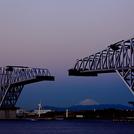 Fuji-san with Tokyo Gate Bridge