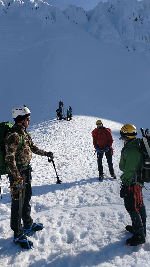 Return from the summit, Mount Hood