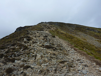 Just a bit of a scamble on the East ridge, Grisedale Pike photo