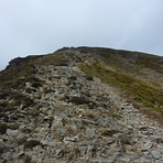 Just a bit of a scamble on the East ridge, Grisedale Pike