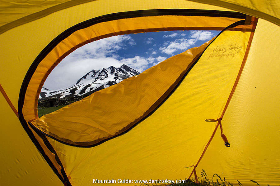 Mount Hasan From The Tent, Hasandag or Hasan Dagi