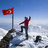 At The Summit of Mount Hasan Turkey, Hasandag or Hasan Dagi