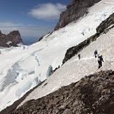 Climbing down the cleaver, Mount Rainier