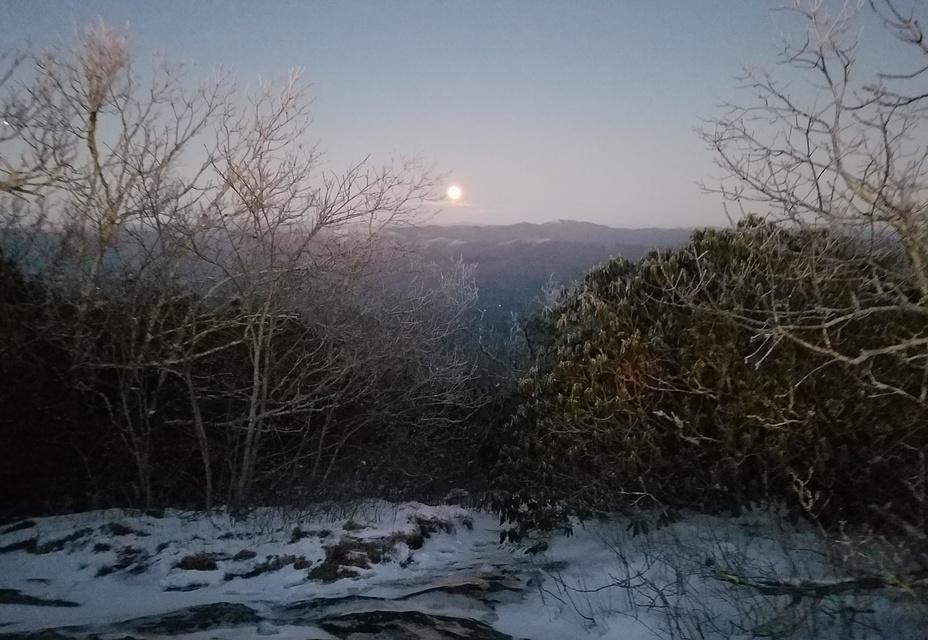Moonrise at Blood Mountain