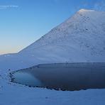 Frozen Lough Cummeenapeasta At Sunset, Cnoc na Péiste