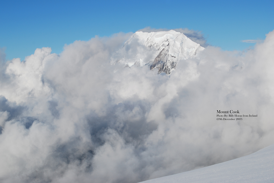 A Glimpse Of Mount Cook, Aoraki/Mount Cook