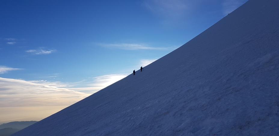 Ascenso por glaciar Jamapa a 5,300m, Pico de Orizaba