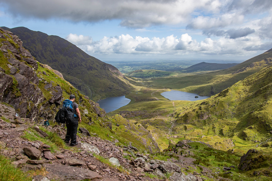 Looking down from the Devils Ladder, Carrauntoohil