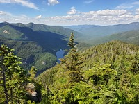 View of ausable lake from mt. Colvin, Mount Colvin photo