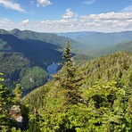 View of ausable lake from mt. Colvin, Mount Colvin