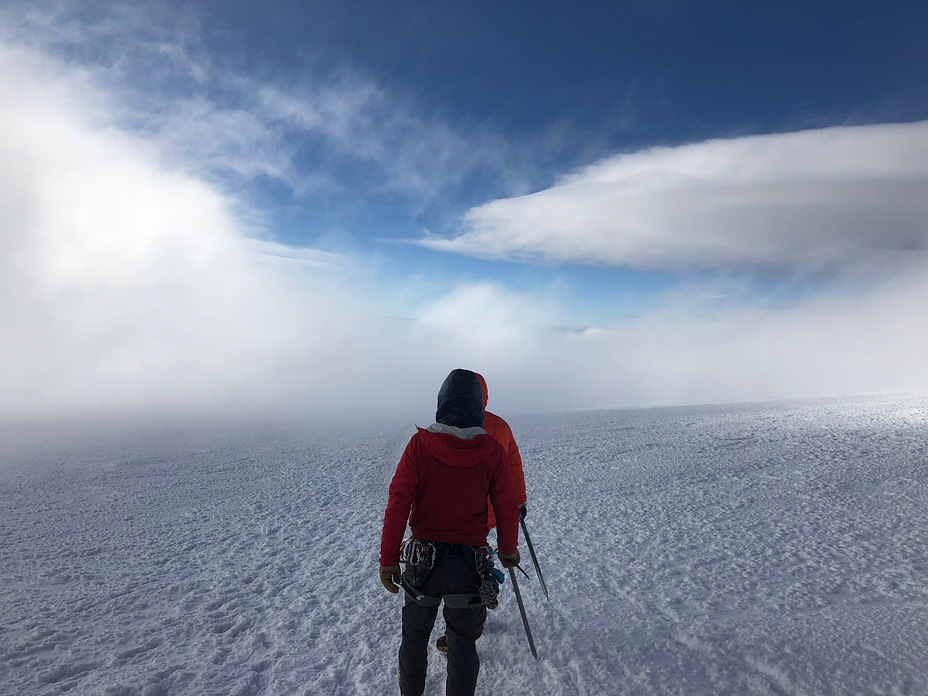 Cloudy in the crater, Mount Rainier