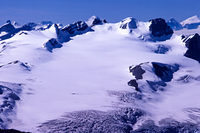 Mt. Lyell (L5 through L1 - Left to Right) and the Lyell Icefield, Mount Lyell (Canada) photo
