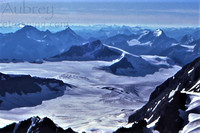 Mons Peak (centre) and the Mons Icefield from near Mt. Forbes' summit, Mount Forbes photo
