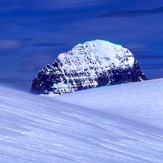 Mt. Alberta From the High Shoulder of the Columbia Icefield, Mount Woolley