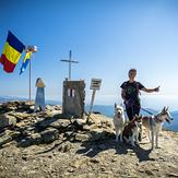 husky climbing, Parângu Mare