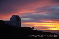 William Herschel Telescope ready for the night, Roque de los Muchachos photo