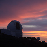 William Herschel Telescope ready for the night, Roque de los Muchachos