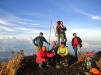 Top of Mount Tambora photo