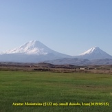 Mount Ararat in mid of spring, Mount Ararat or Agri
