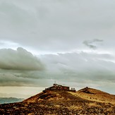 Awiar mountain shelter in autumn