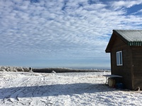 Shack at the summit of the mountain, Mount Ararat (Pennsylvania) photo