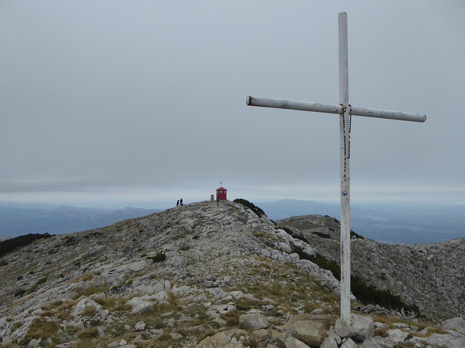 Dinara peak seen from nearest side peak