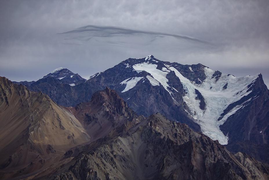Nevado Juncal seen from Cerro Hornitos
