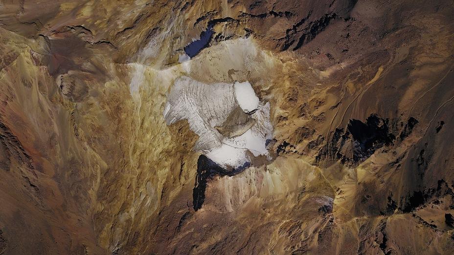 Satellite image of Iztaccihuatl