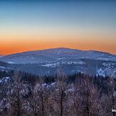 Diablak w porannych zimowych barwach, Babia Góra