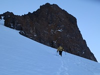 Coming down the couloir, Ras N'Ouanoukrim photo