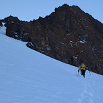 Coming down the couloir, Ras N'Ouanoukrim