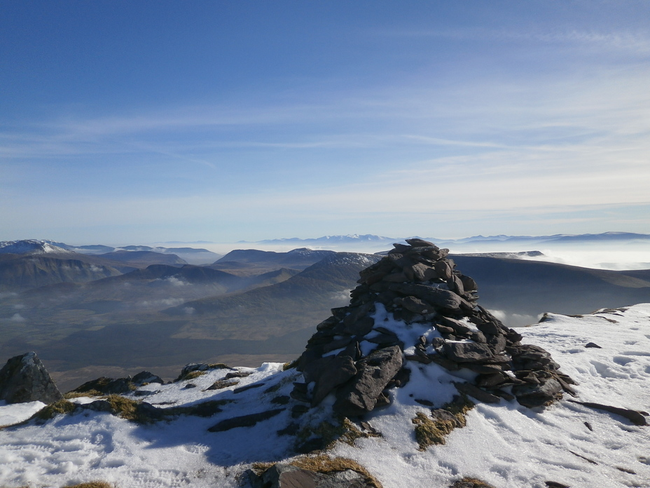 Carrantoohill and the Reeks from Brandon Peak, Brandon Mountain