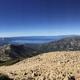 View from Freel Peak of Lake Tahoe