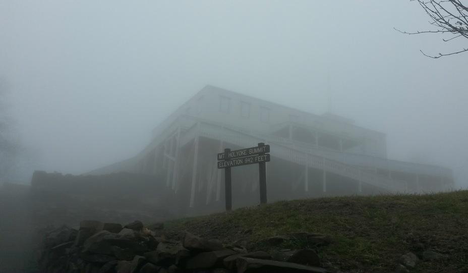 Mt Holyoke Summit House in the fog, Mount Holyoke
